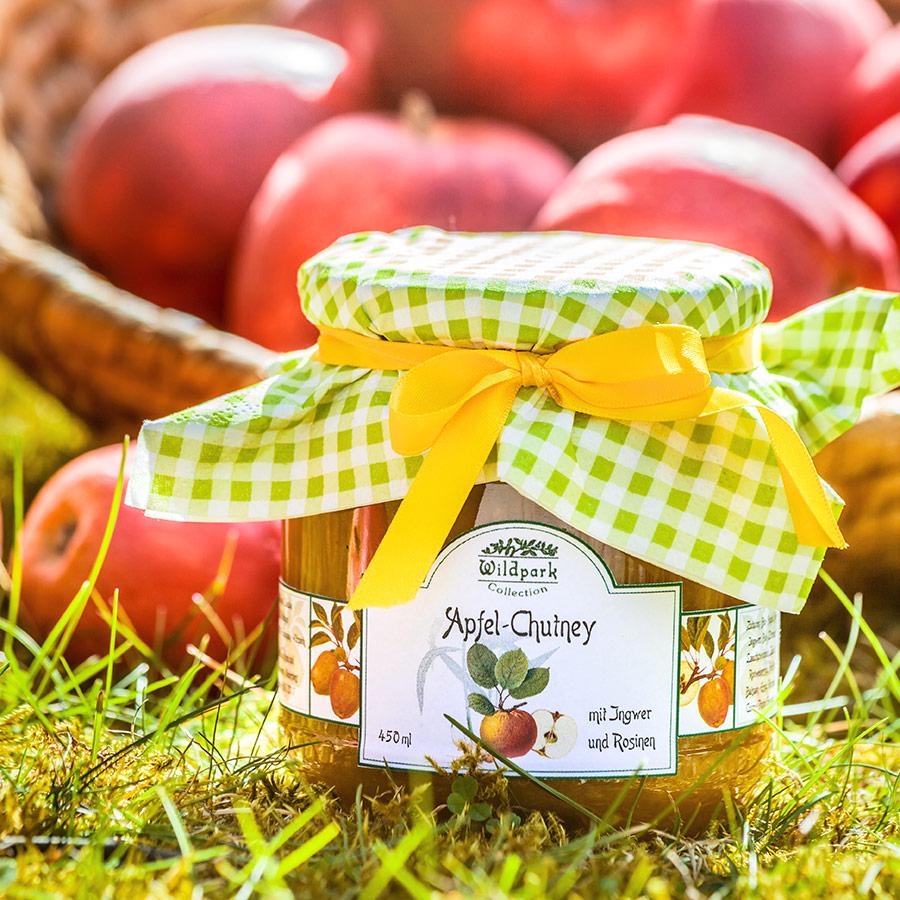 Apfel-Chutney mit Ingwer und Rosinen (450 ml)